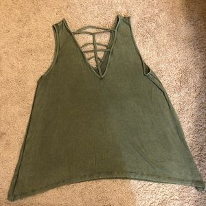 American Eagle Ribbed Cut our Tank